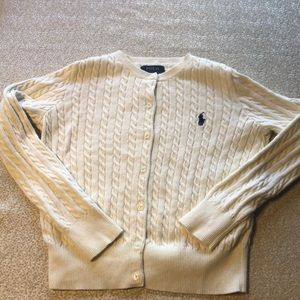 Size Small (7) Ralph Lauren Cable Cardigan
